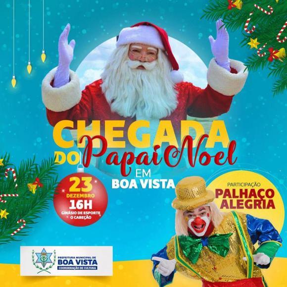 Prefeitura de Boa Vista promove a Chegada do Papai Noel neste domingo