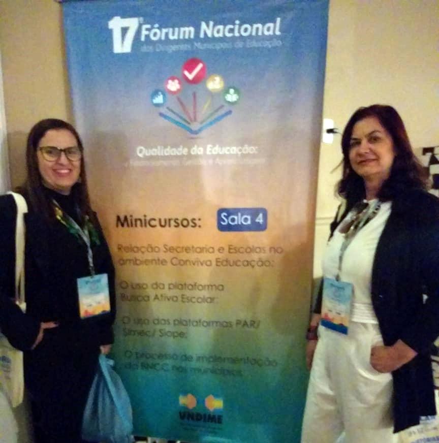 Secretária e coordenadora de Educação participam de fórum nacional na BA