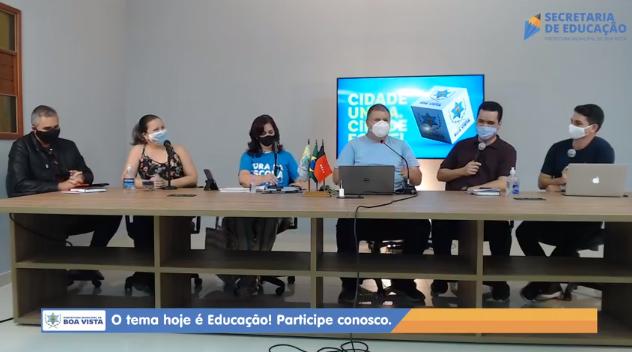 Prefeito e integrantes da Secretaria de Educação de Boa Vista dialogam sobre o retorno gradual das aulas presenciais