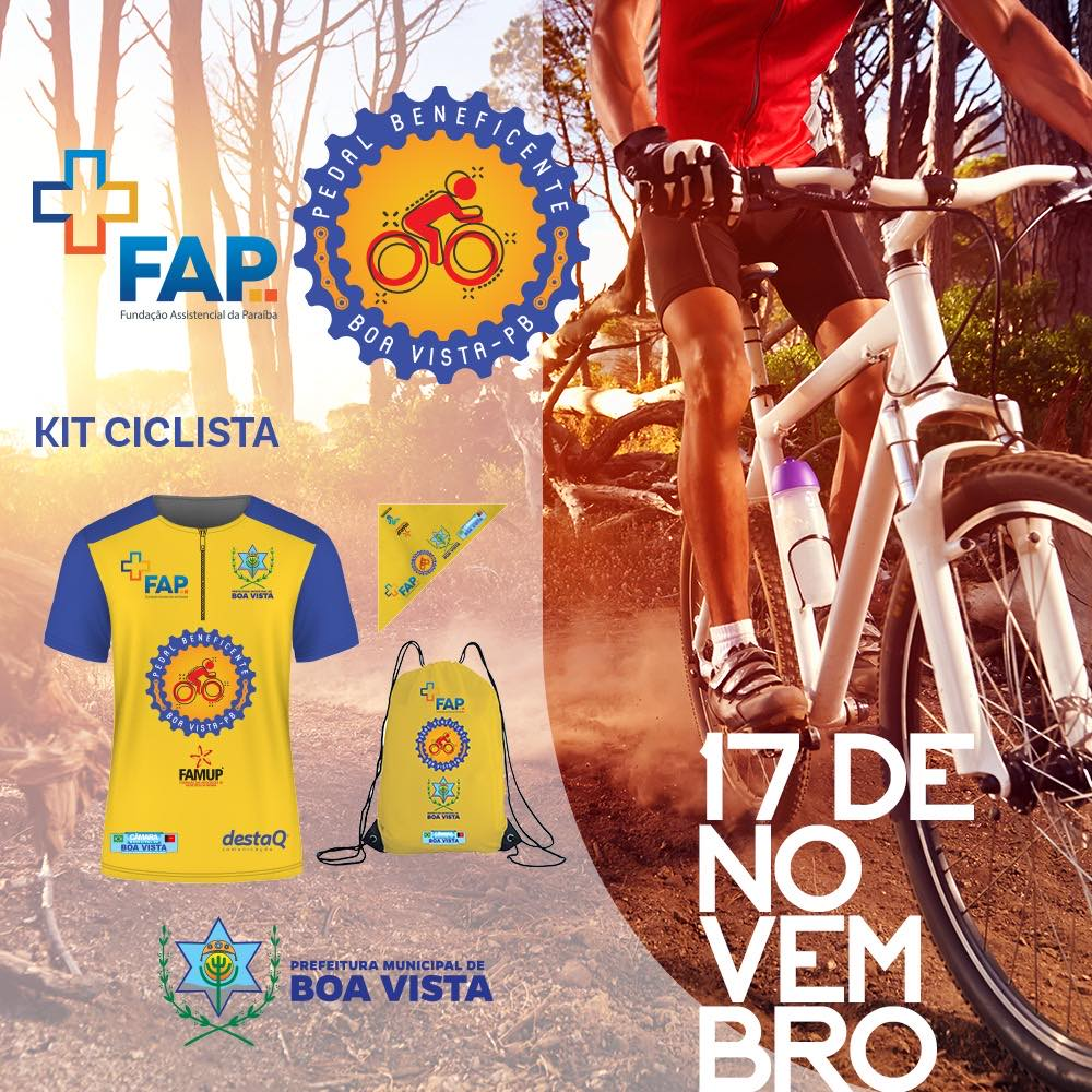 Famosos se engajam e incentivam Pedal Beneficente que será realizado em Boa Vista